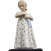B&G Danish Girl Porcelain Figurine