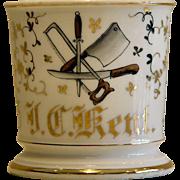 Limoges Occupational Shaving Mug For Butcher