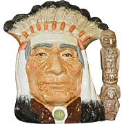 "Royal Doulton Character Jug ""North American Indian"" D6611"