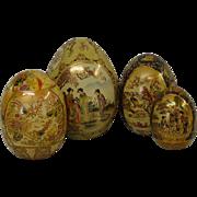 4 Satsuma Porcelain Eggs