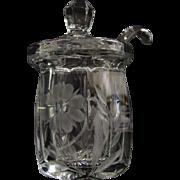 Heisey Jam Jar with Spoon