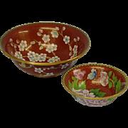 Chinese Cloisonné Bowls