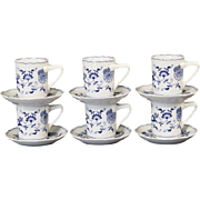 Blue Danube Demitasse Cups & Saucers