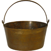 Antique Brass Kettle With Iron Handle