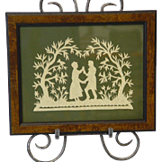 Couple in Garden Scherenschnitte (Paper Cutting)