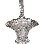 Hofbauer Byrdes Collection Crystal Basket
