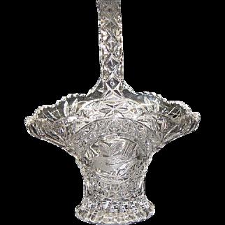 Hofbauer Byrdes Collection Crystal Basket