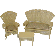 Doll House Wicker Set