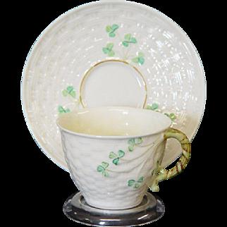 Irish Belleek Tea Cup and Saucer
