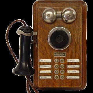 1900's Samson Wooden Wall Intercom/Telephone