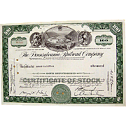 Pennsylvania Railroad Stock Certificate
