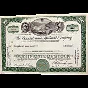 Pennsylvania Railroad Stock Certificate