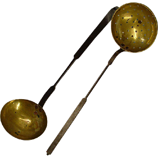 Brass Skimmer and Ladle Set