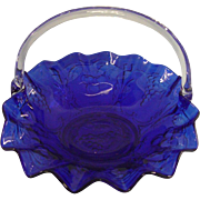 Vintage Indiana Glass Company Cobalt Blue Basket