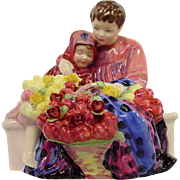 Royal Doulton Flower Sellers Children Figure HN1342