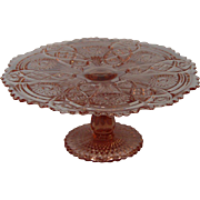 Imperial Glass Fashion Pattern Pedestal Cake Stand