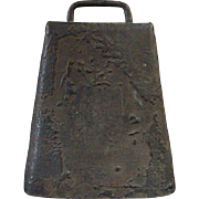 Early Tin Cow Bell