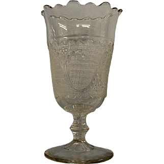 Early American Pressed Glass Celery