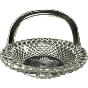 Pressed Glass Basket