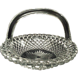 Pressed Glass Basket