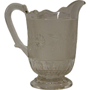Early American Pattern Glass Dahlia Pattern Pitcher