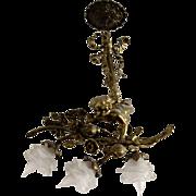French Doré Bronze Cherub Fixture