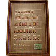 Sierra Cartridge Bullet Board