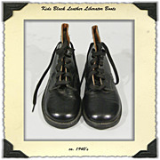 1940s Kids Liberator Boots deadstock