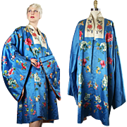 1910s to 1920s Chinese Embroidered Silk Opera Robe Coat