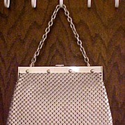 Whiting & Davis Large Aluminum Mesh Purse Handbag