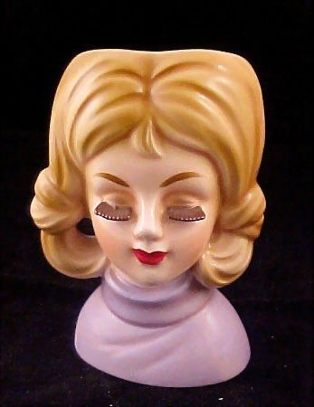 Ruben Brown Lash Lady Head Vase