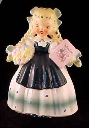 Goldilocks Full Figurine Planter Napco