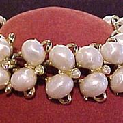 Designer Kramer Faux Pearl & Rhinestone Bracelet