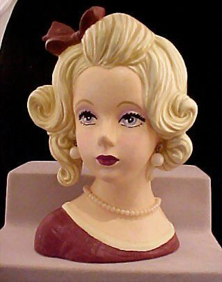 Sweet Second Painted Lady Head Vase 7""