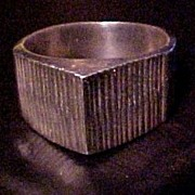 Vintage Silver Ring Deco Style Mexican Silver