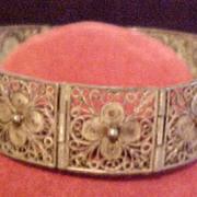 Vintage Floral Lacy Bracelet