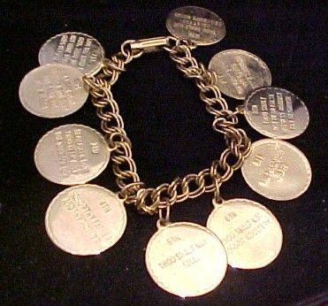 Vintage Ten Commandment Bracelet