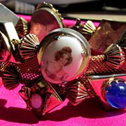 Fabulous Vintage Double Slide Mesh Bracelet HTF