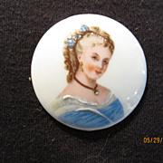 Vintage Hand Painted Limoges Lady on Porcelain