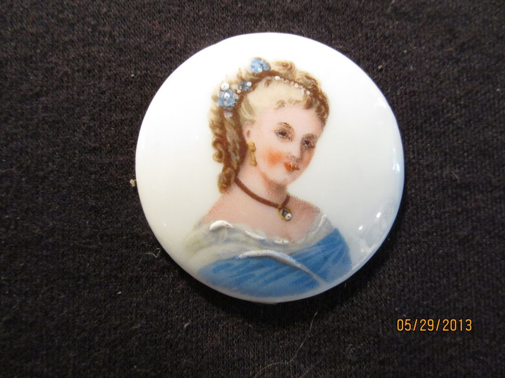 Vintage Hand Painted Limoges Lady on Porcelain