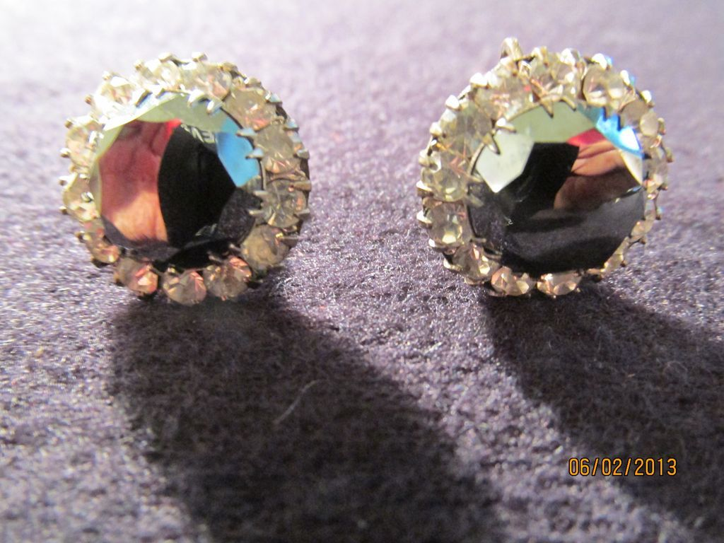 1930's Deco Sterling Hematite Earrings