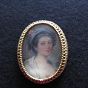 Vintage Florenza Portrait Pin Rose In Hair