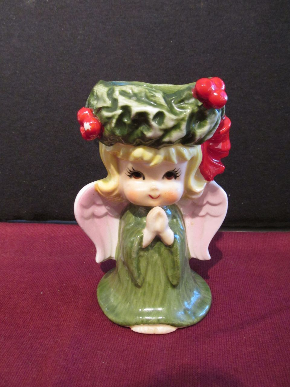 Lefton Angel Christmas Candle Holder