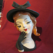 Fine Fingered Lady Head Vase 8""