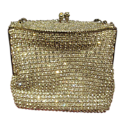 Vintage Rhinestone Evening Purse Handbag Very Ornate