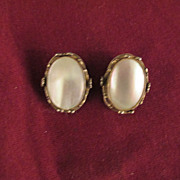 Vintage W & D Whiting & Davis Ornate Earrings Signed