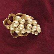 Large Vintage Brooch Pendant