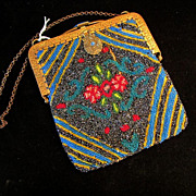Bold Colors Micro Beaded Vintage Purse Fabulous Clasp