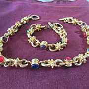 Multi Color Necklace & Bracelet