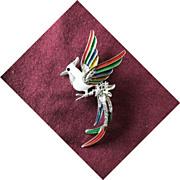 Vintage Swarovski Bird of Paradise Brooch Pin